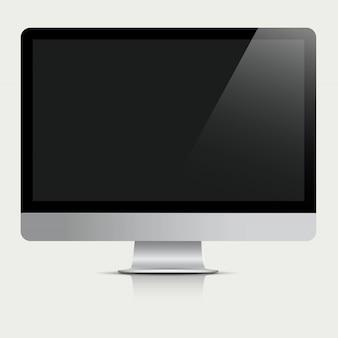 Computermonitor met zwart scherm