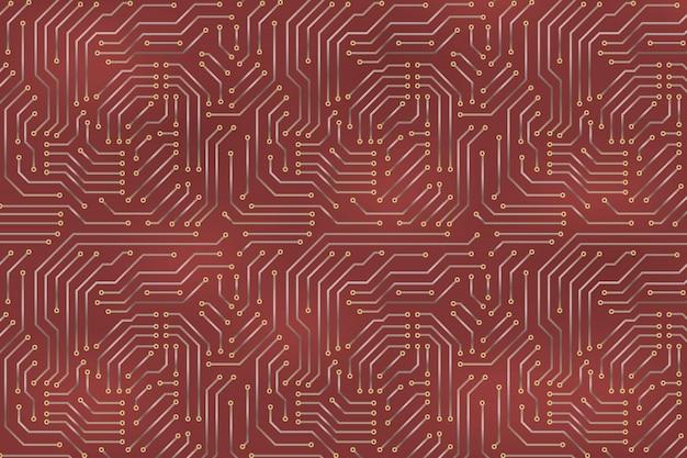 Computermotherboard achtergrond met printplaat elektronische elementen.
