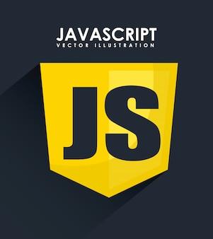 Computerontwerp over blauwe achtergrond vectorillustratie