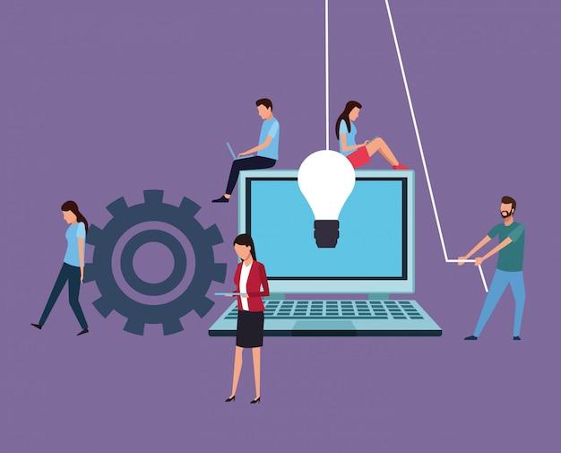 Computerontwerp teamwork