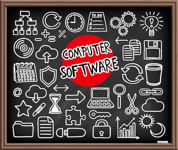 Computersoftware ingesteld.