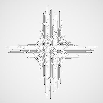 Computertechnologie abstracte achtergrond met kringsraad