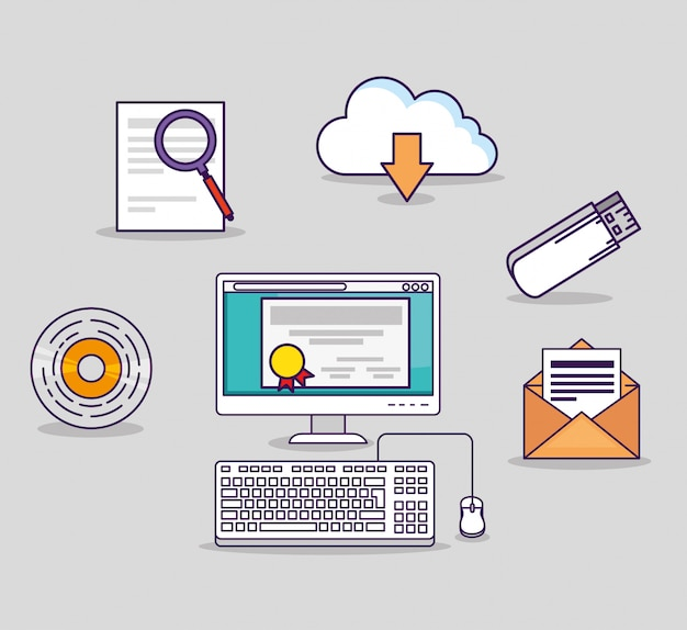 Computertechnologie met usb- en certificaatdiploma