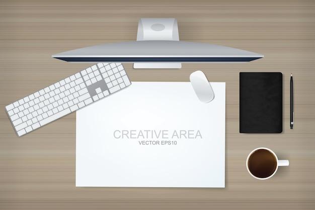 Computerweergave achtergrond van werkruimte