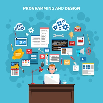 Concept afbeelding programmeren