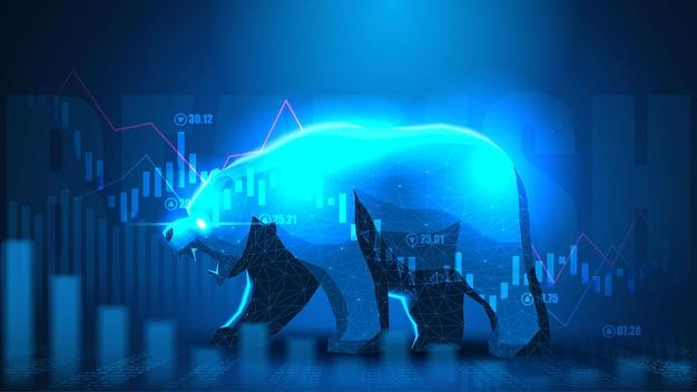 Concept art van bearish in futuristisch idee