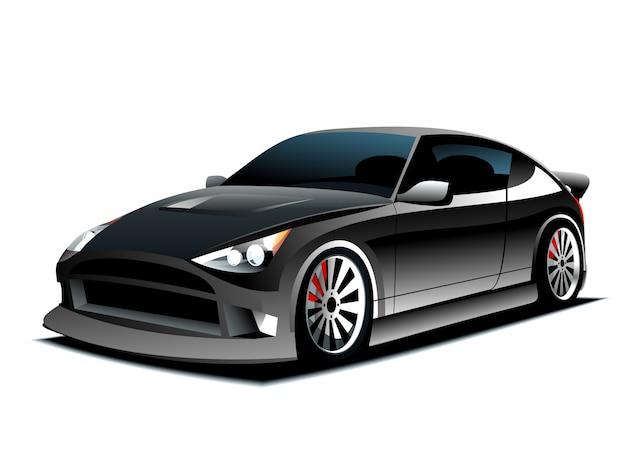 Concept auto. illustratie op witte achtergrond.