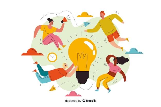 Concept bestemmingspagina brainstormen