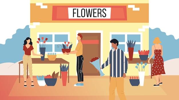 Concept bloemenwinkel