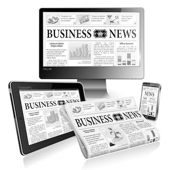 Concept - digitaal nieuws