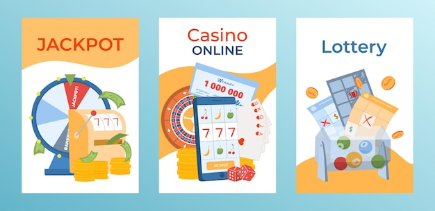 Concept gokken briefkaart instellen moderne online jackpot casino