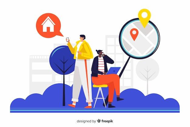 Concept huis op zoek naar bestemmingspagina