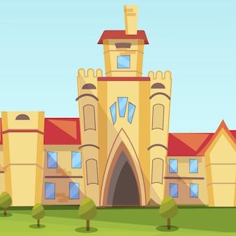 Concept illustratie gebouw instituut