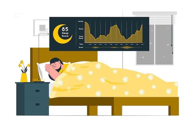 Concept illustratie slaapanalyse