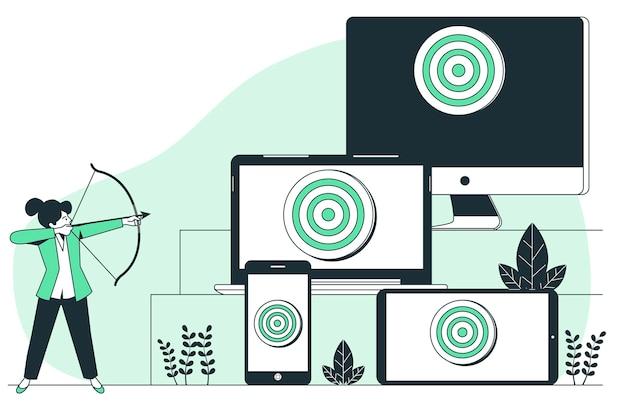 Concept illustratie voor targeting op meerdere apparaten