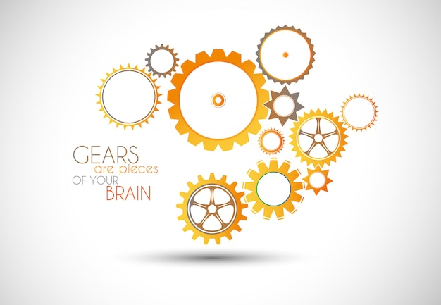 Concept mechanic gear illustratie.