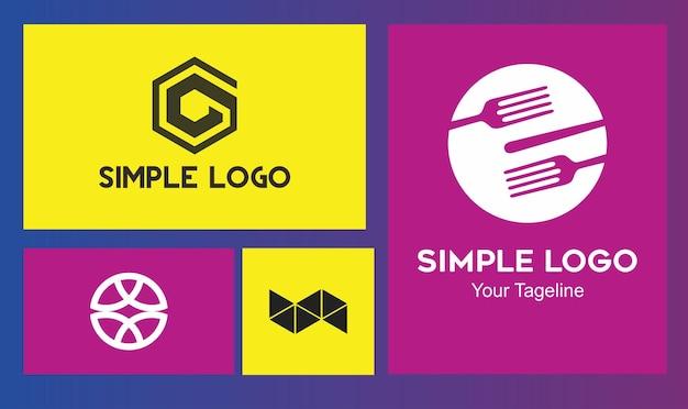 Concept met meerdere logo's voor veel bedrijven