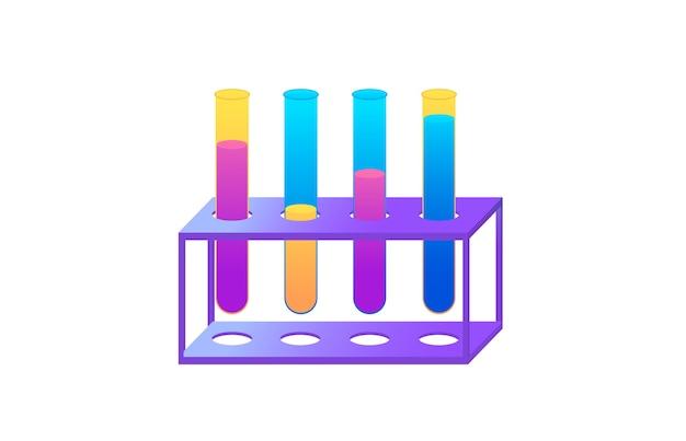 Concept om ontwerp van chemische experimenten uit te voeren. proces werken in de webbanner van het lab.