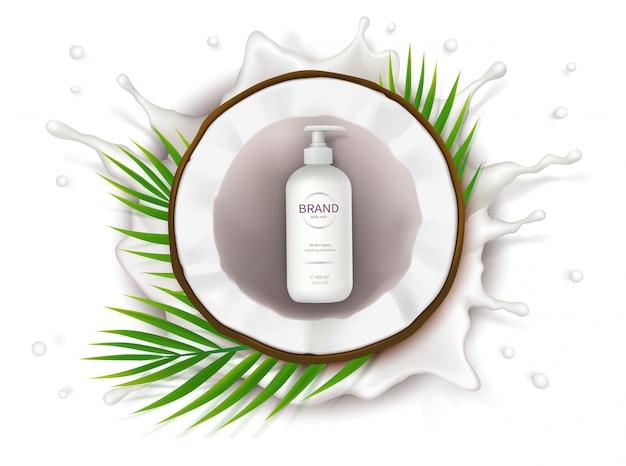 Concept poster voor biologische natuurlijke crème