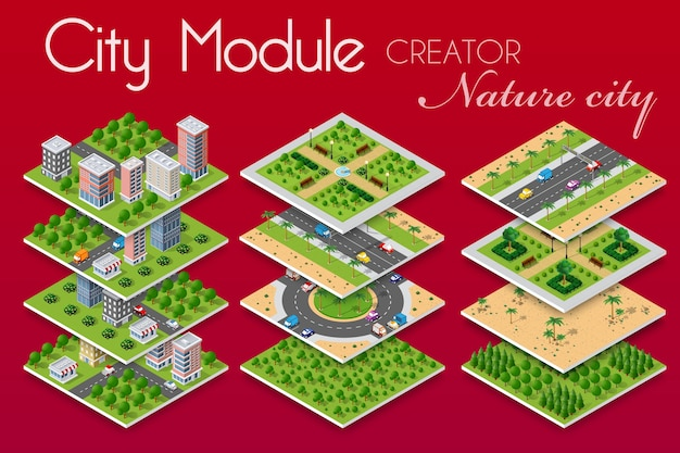 Concept stedelijke infrastructuurzaken.