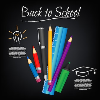 Concept student vector schoolbord