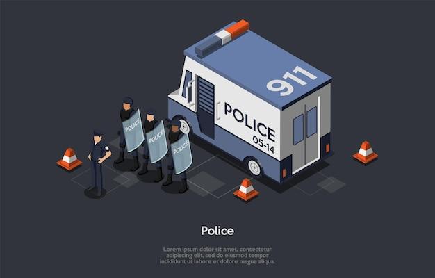 Concept van bescherming van de bevolking