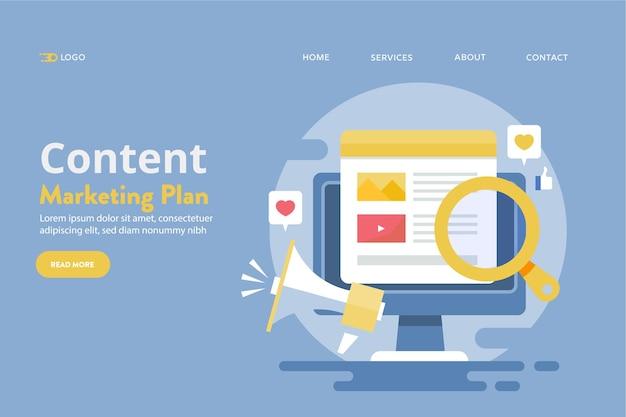Concept van contentmarketing
