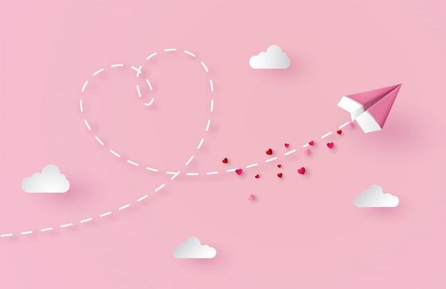 Concept van de dag van de valentijnskaart