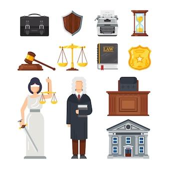 Concept van de illustratie van het gerechtelijk apparaat.