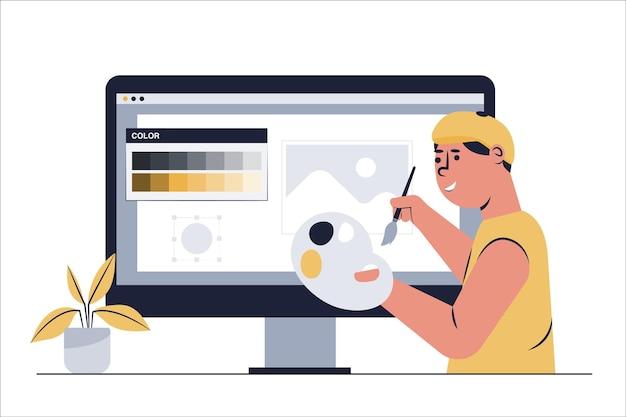 Concept van digitale artiesten