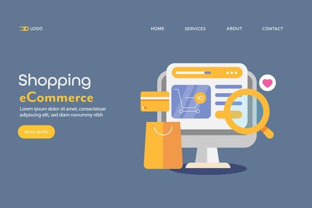 Concept van e-commerce winkelen