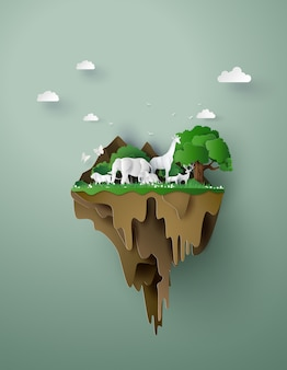 Concept van ecologie en milieu