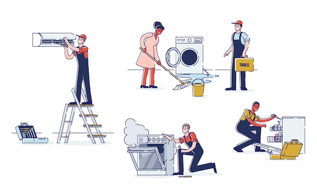 Concept van elektrische apparaten service