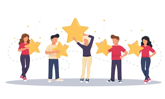 Concept van feedback getuigenissen berichten en meldingen and