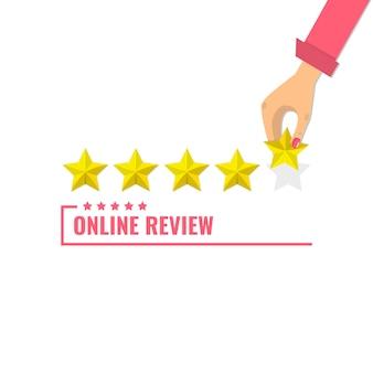 Concept van feedback, getuigenissenberichten. beoordeling op klantenservice.