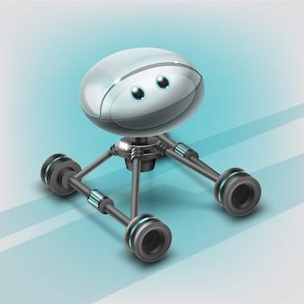 Concept van fictieve robotassistent op wielen