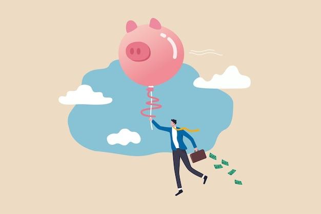 Concept van financiële vrijheid of financiële onafhankelijkheid