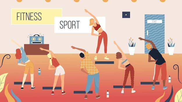 Concept van fitness, gezondheidszorg en actieve sport