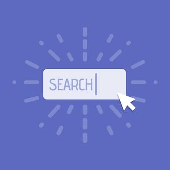 Concept van het gebruik van zoeken op internet. vector illustratie.