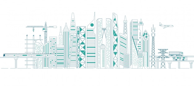 Concept van infrastructuur in de stad