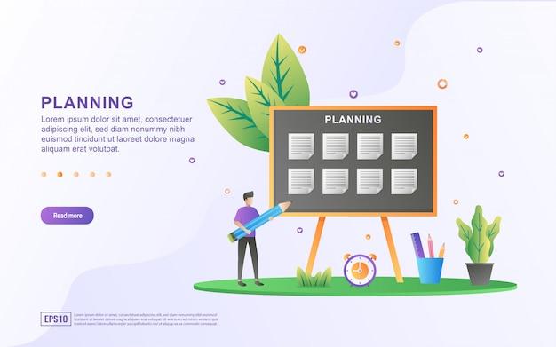 Concept van lesrooster of lesrooster, creatie van persoonlijk studieplan, planning en planning van leertijden.