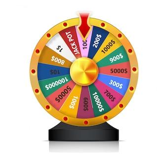 Concept van loterij winnen