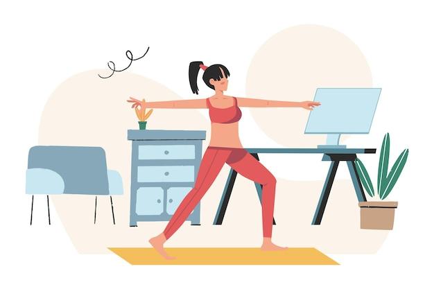 Concept van meditatie, gezondheidsvoordelen voor het lichaam