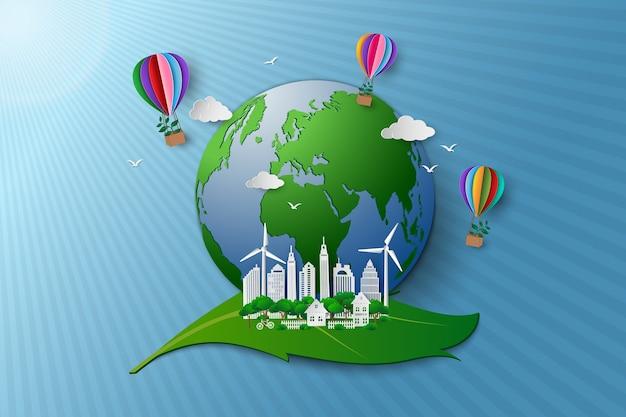 Concept van milieuvriendelijk en milieubehoud