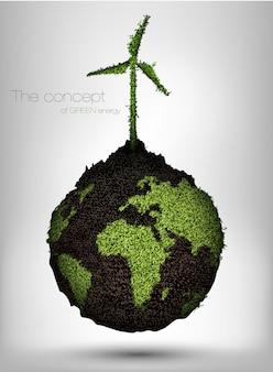 Concept van natuurlijke bevoorradingsbronnen en vervuilende fabrieken