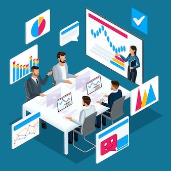 Concept van online leren, afstandsonderwijs, videotraining, online coaching, financiële training