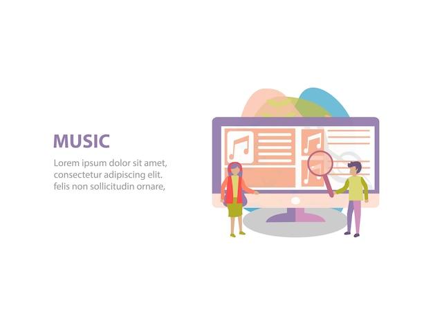 Concept van online streaming achtergrondontwerp