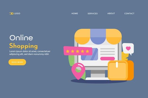 Concept van online winkelen