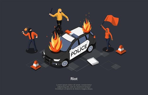 Concept van plundering.