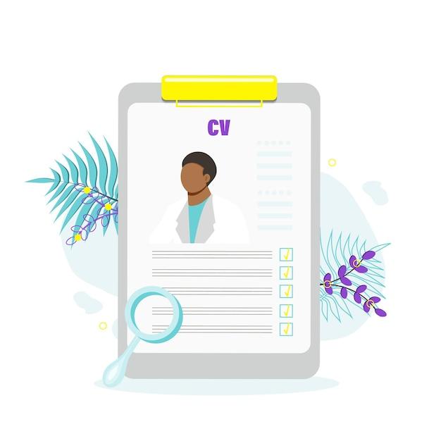 Concept van professionele werving van personeel, sollicitatie, personeel inhuren, selectie van kandidaten. platte vectorillustratie.